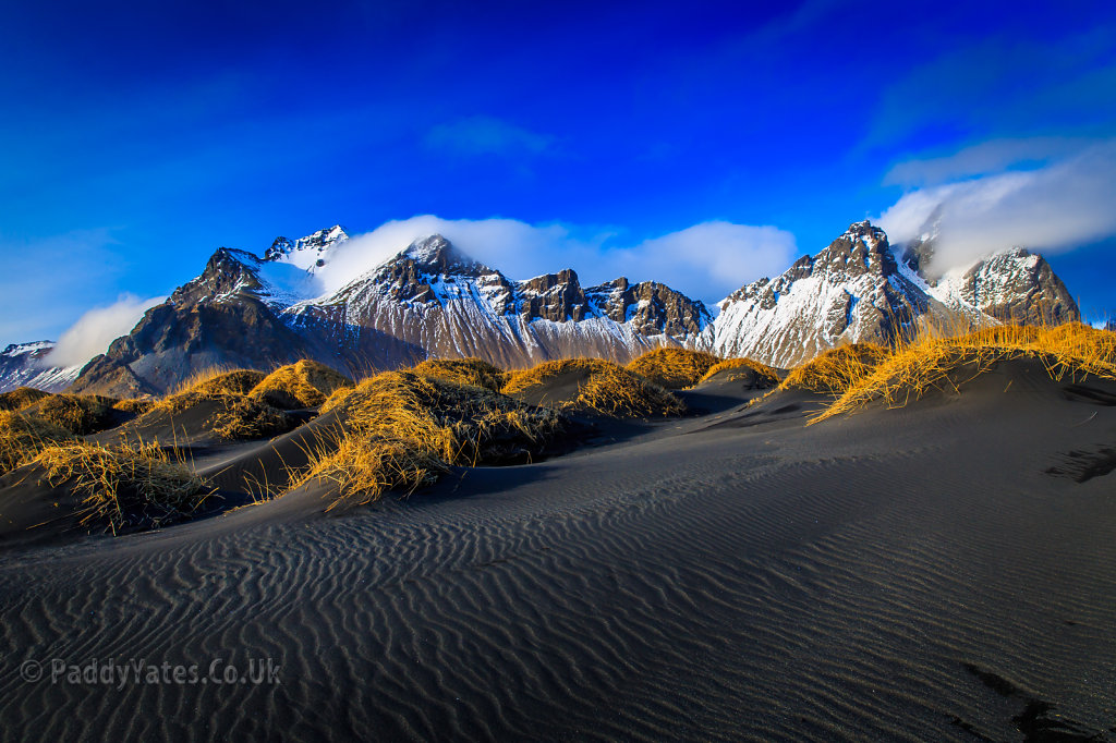 A view from Stokksnes towards Vestrahorn